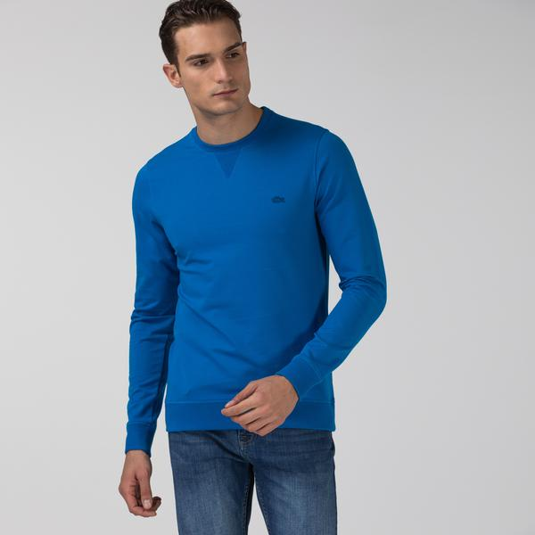 Lacoste Erkek Bisiklet Yaka Mavi Sweatshirt