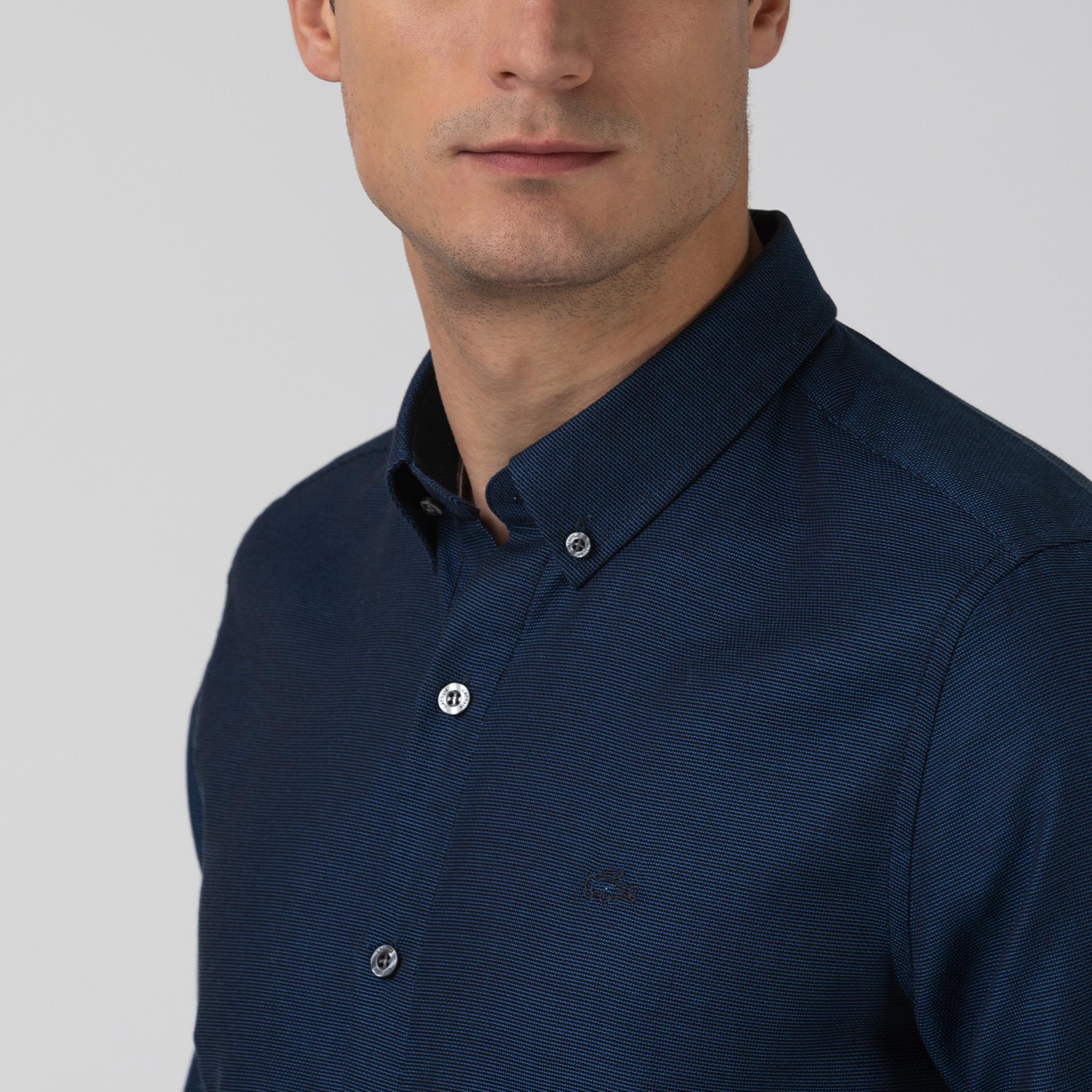 Lacoste Erkek Slim Fit Lacivert Gömlek