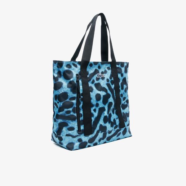 Lacoste x National Geographic Kadın Mavi Çanta