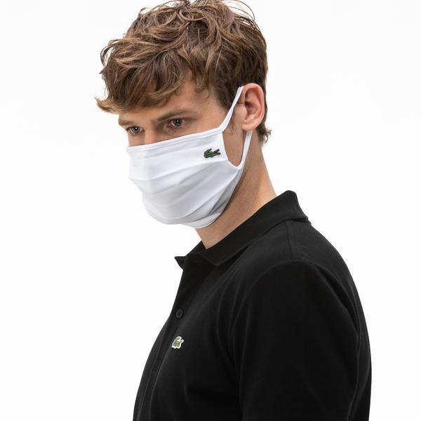 Lacoste Pamuklu Yıkanabilir Beyaz L1212 Maske