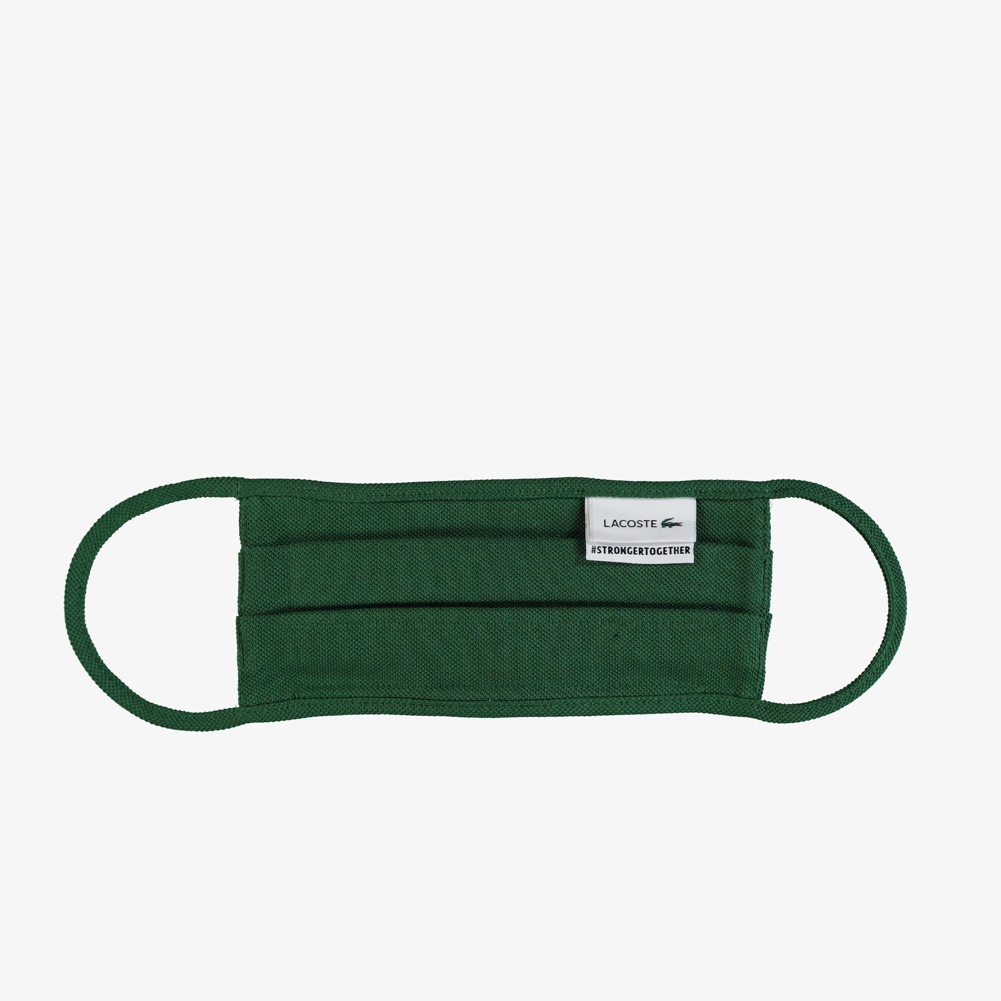 Lacoste Pamuklu Yıkanabilir Yeşil Maske