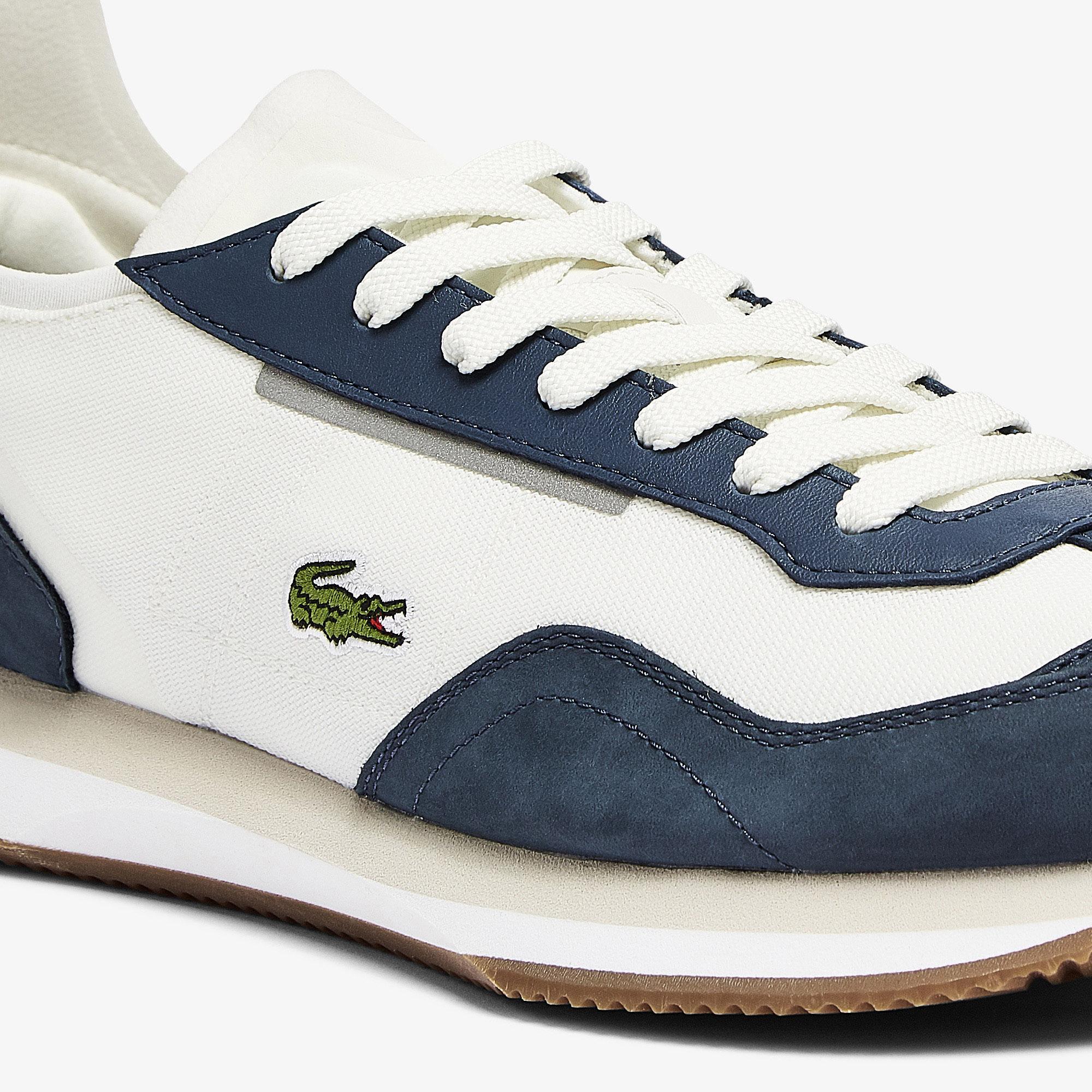 Lacoste Match Break 0721 1 G Sma Erkek Beyaz - Lacivert Sneaker