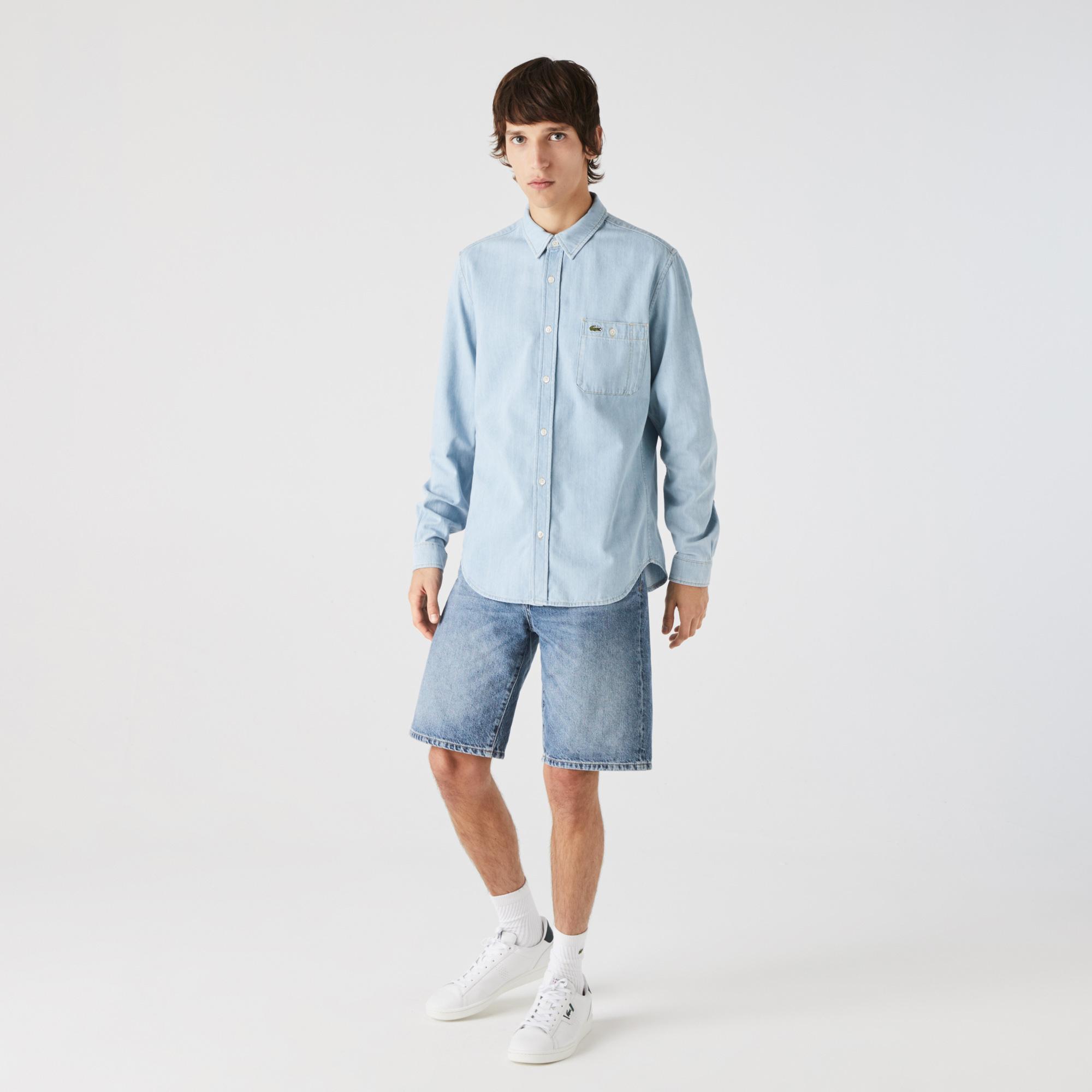 Lacoste Erkek Regular Fit Açık Denim Gömlek