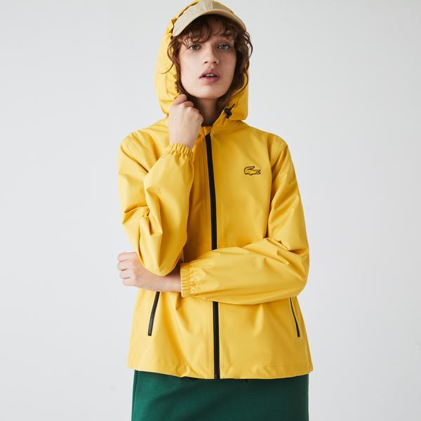 Lacoste Kadın Kapüşonlu Sarı Rüzgarlık