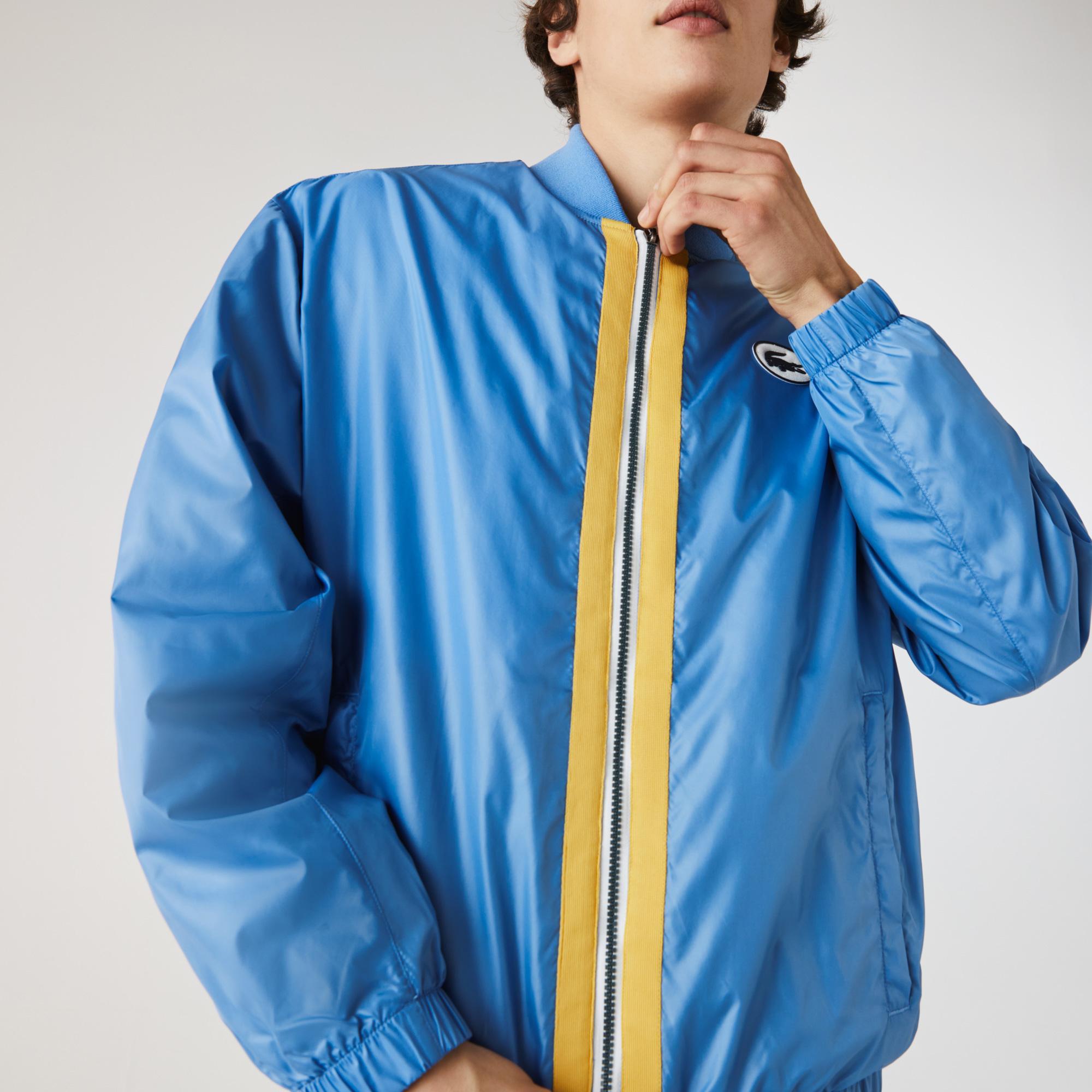 Lacoste Erkek Hakim Yaka Fermuarlı Mavi Ceket
