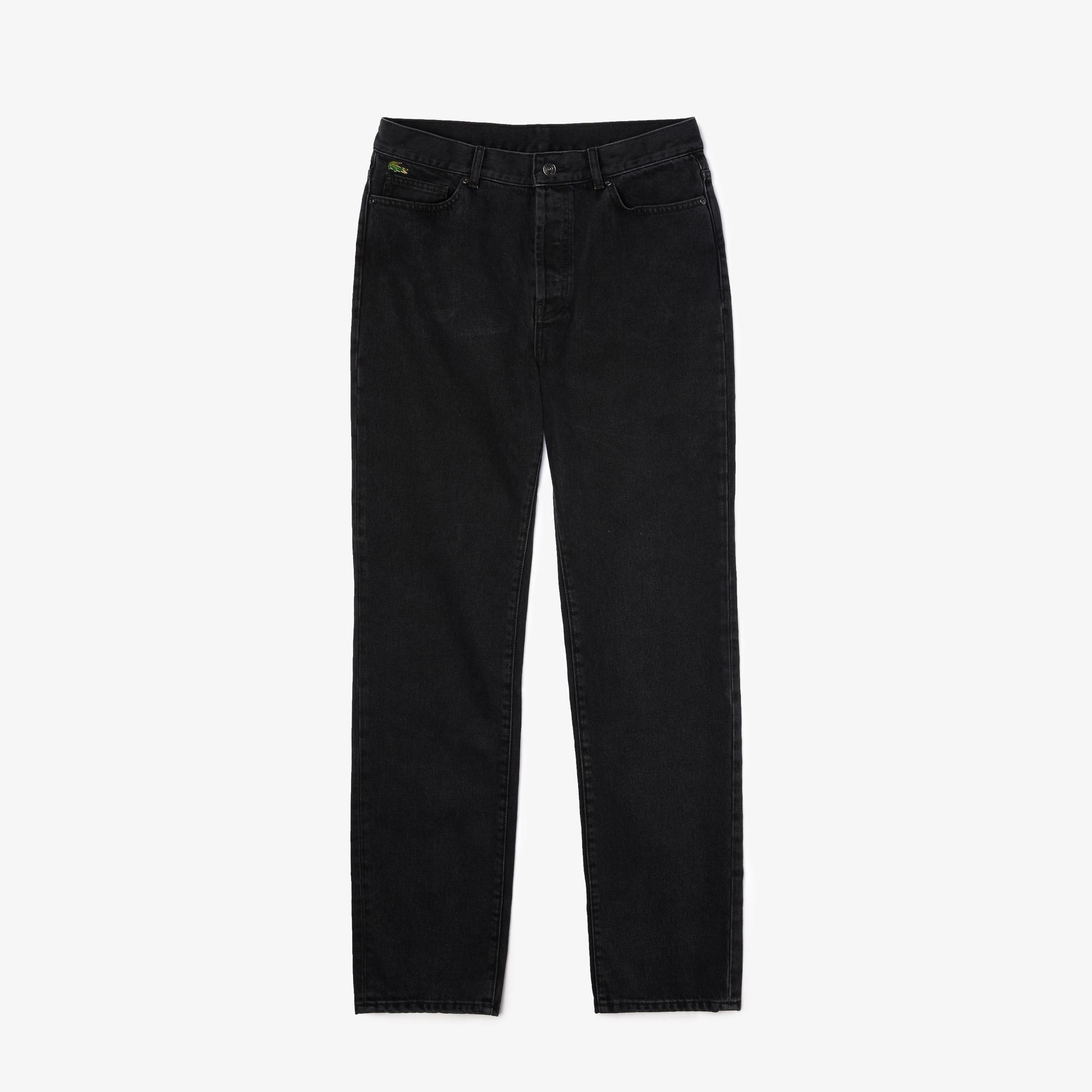 Lacoste L!ve Erkek Siyah Denim Pantolon