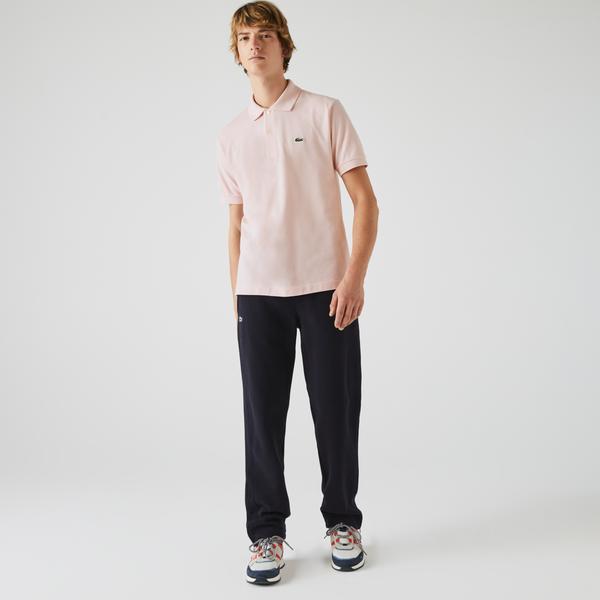 Lacoste Erkek Klasik Fit Pembe L1212 Polo