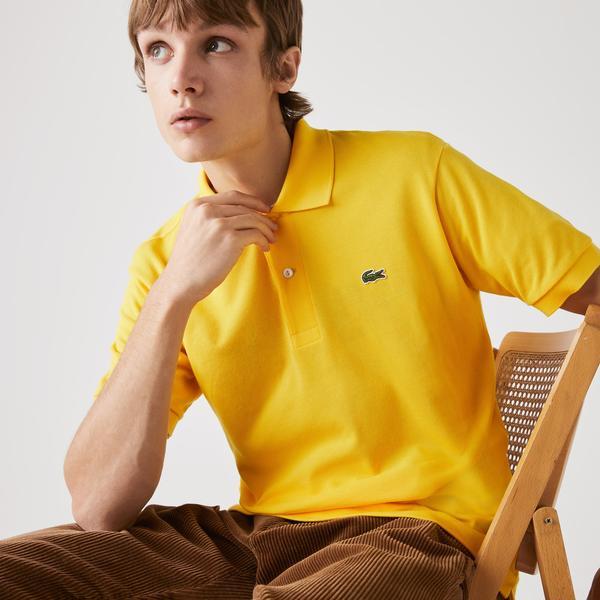 Lacoste Erkek Klasik Fit Sarı L1212 Polo
