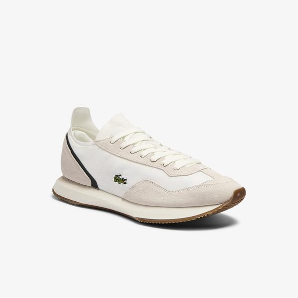 Lacoste Match Break 0721 1 Sma Erkek Bej Sneaker