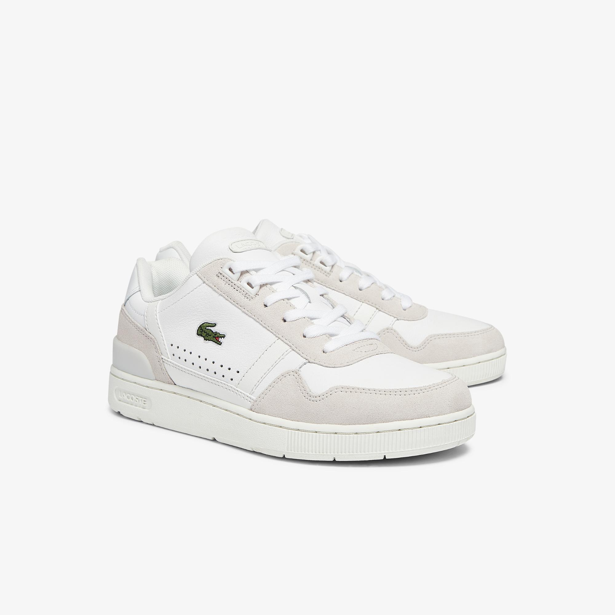 Lacoste T-Clip 0721 1 Sfa Kadın Bej -Beyaz Sneaker