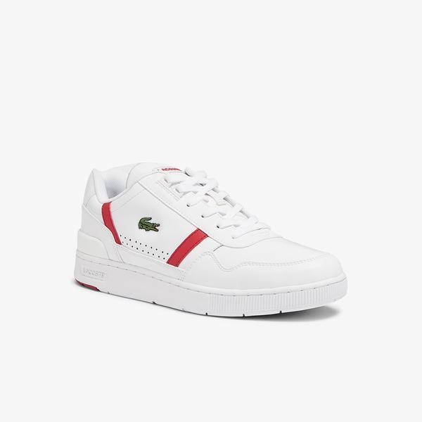 Lacoste T-Clip 0721 2 Sma Erkek Beyaz - Kırmızı Sneaker