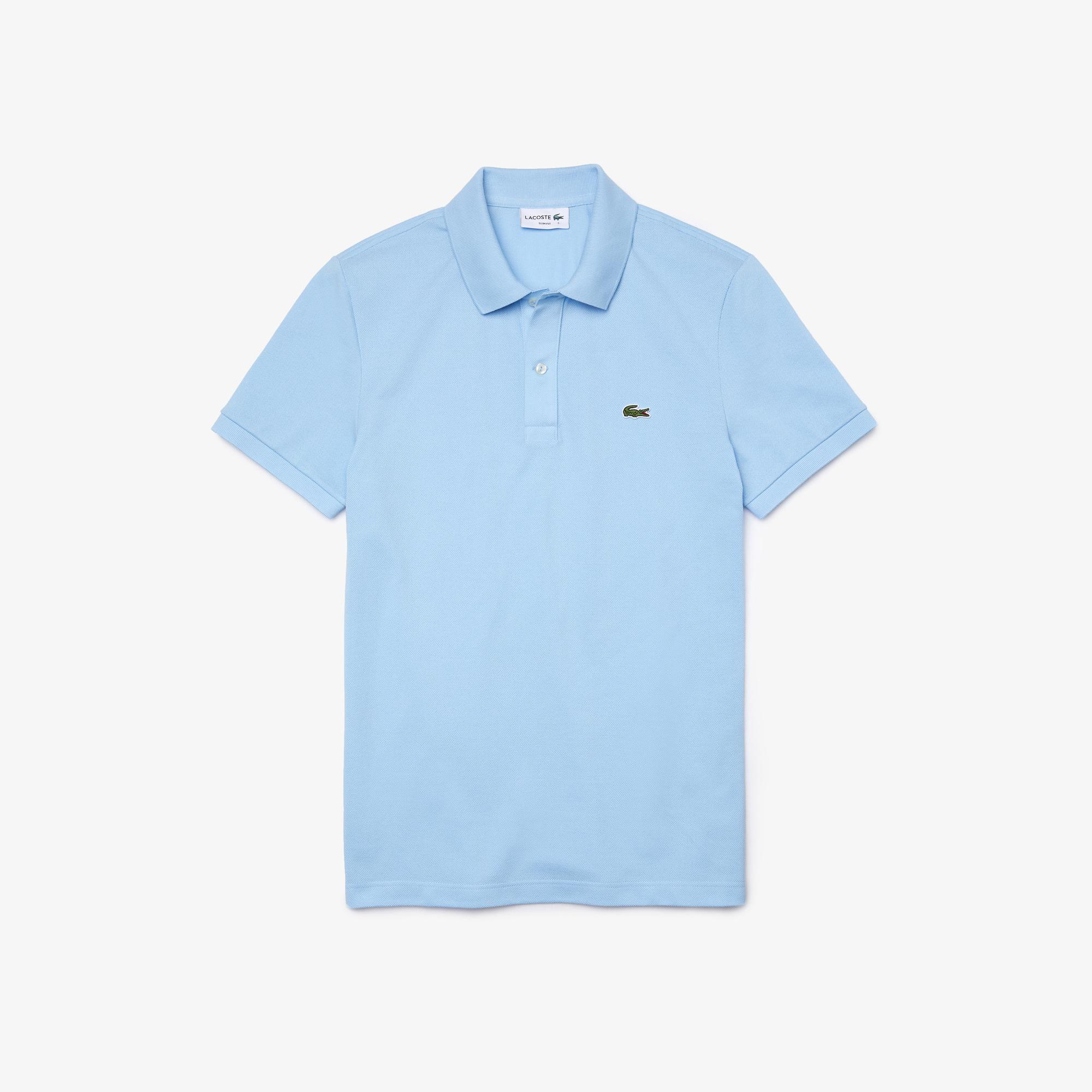 Lacoste Erkek Slim Fit Açık Mavi Polo