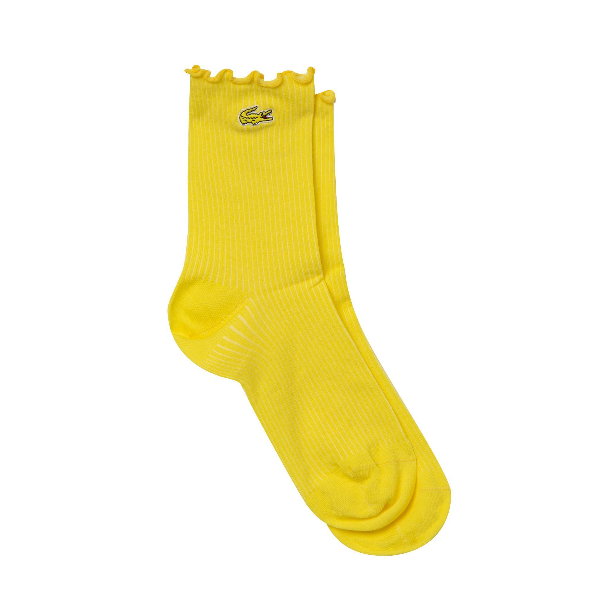 Lacoste Kadın Uzun Sarı Çorap