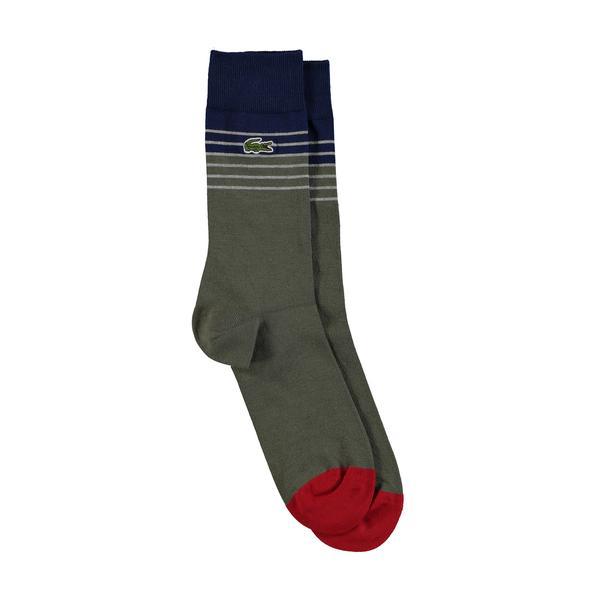 Lacoste Unisex Uzun Çizgili Renkli Çorap