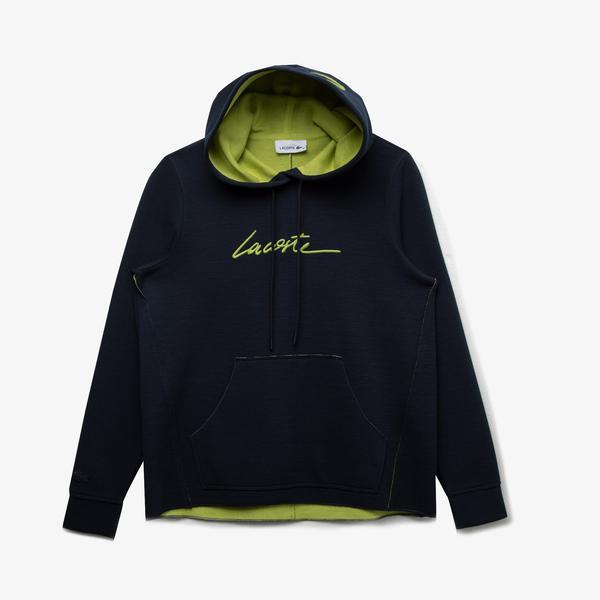 Lacoste Kadın Kapüşonlu Baskılı Lacivert Sweatshirt
