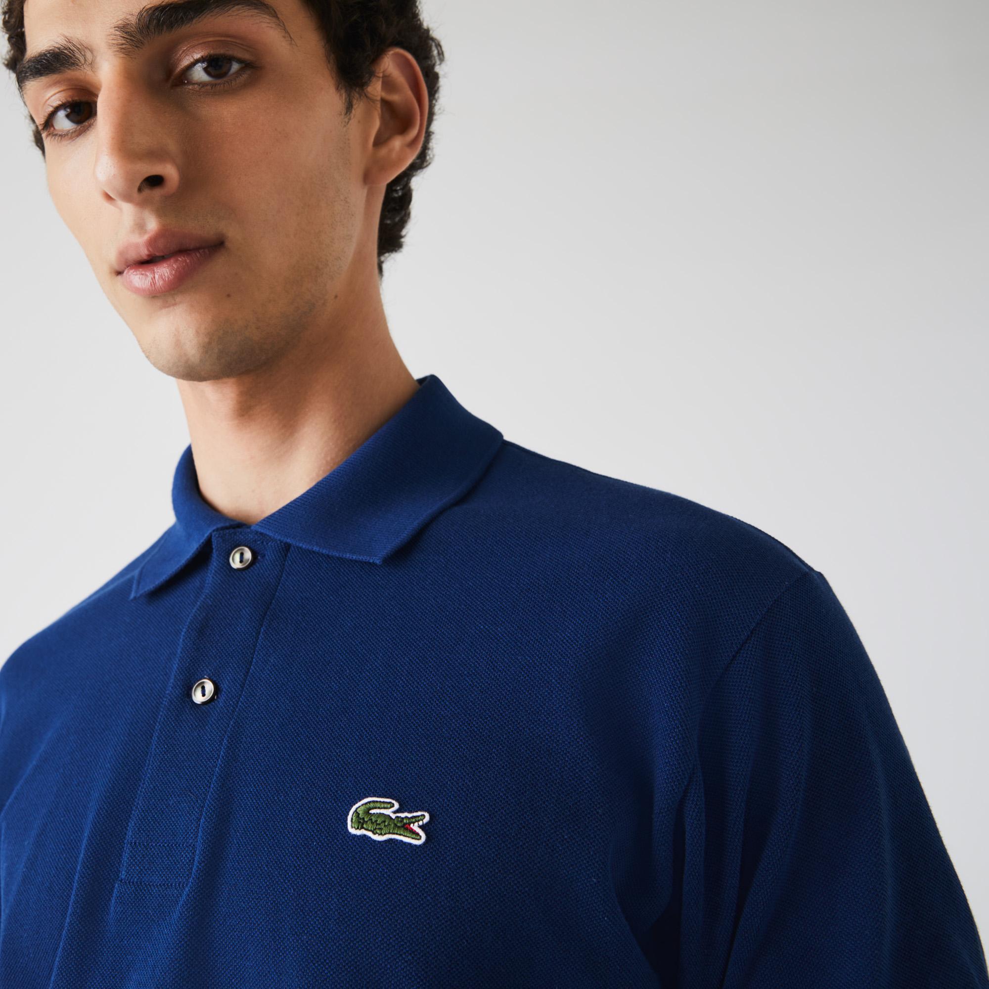 Lacoste Erkek Klasik Fit Mavi L1212 Polo