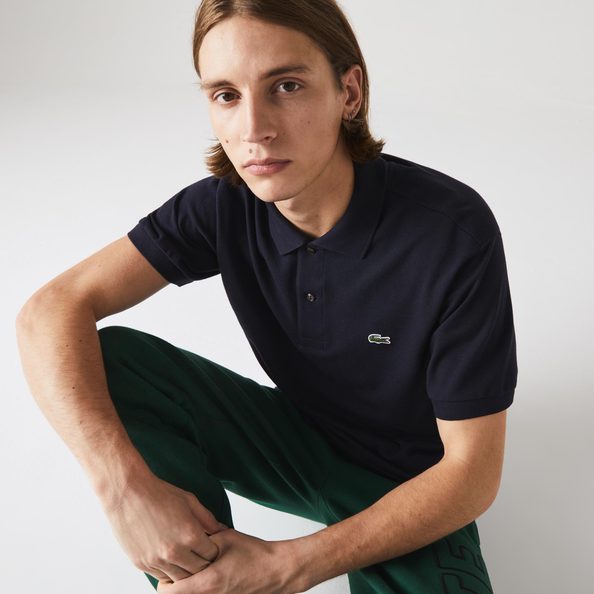 Lacoste Erkek Klasik Fit Lacivert L1212 Polo