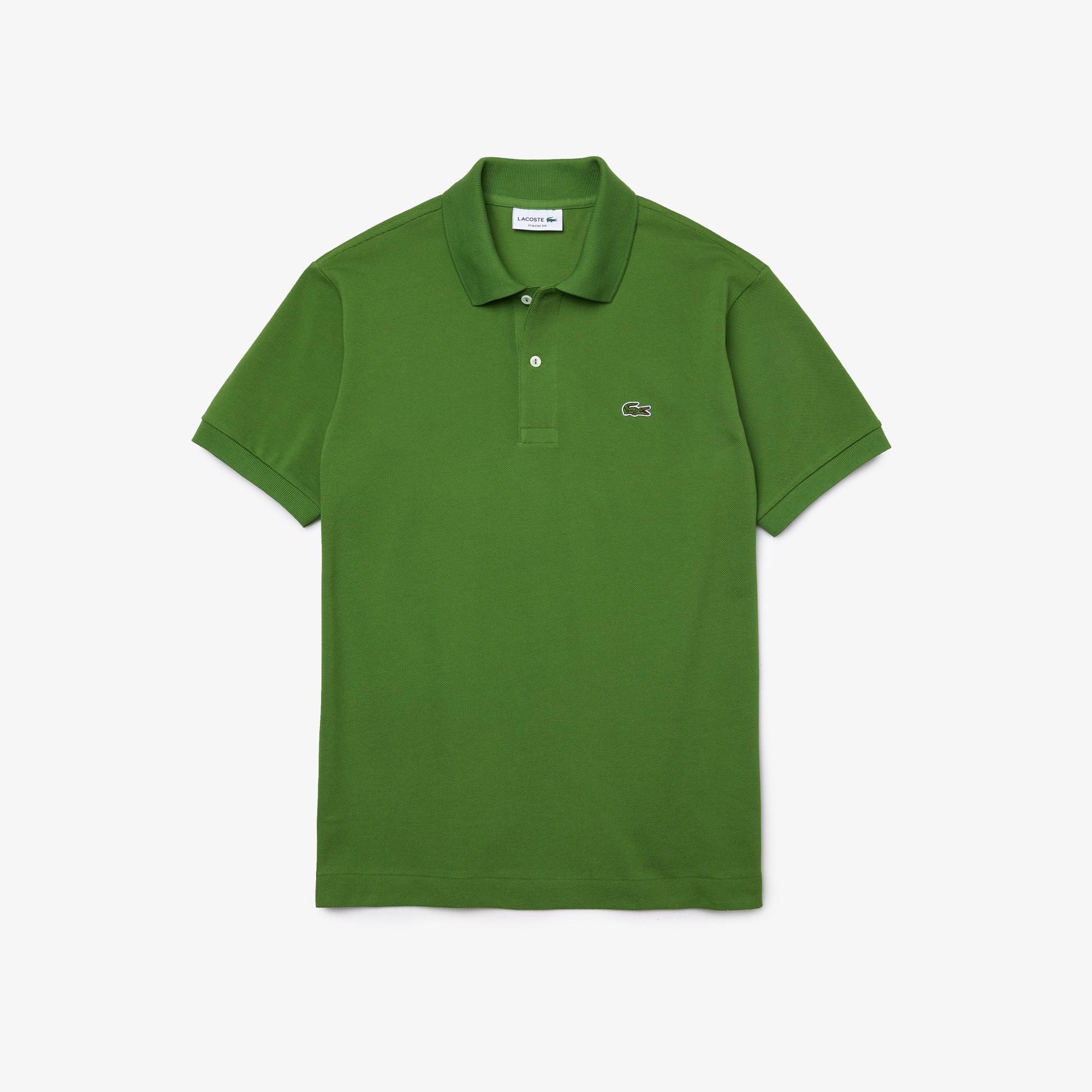 Lacoste Erkek Klasik Fit Yeşil L1212 Polo