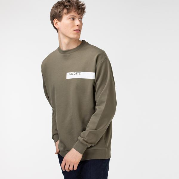 Lacoste Erkek Baskılı Haki Sweatshirt