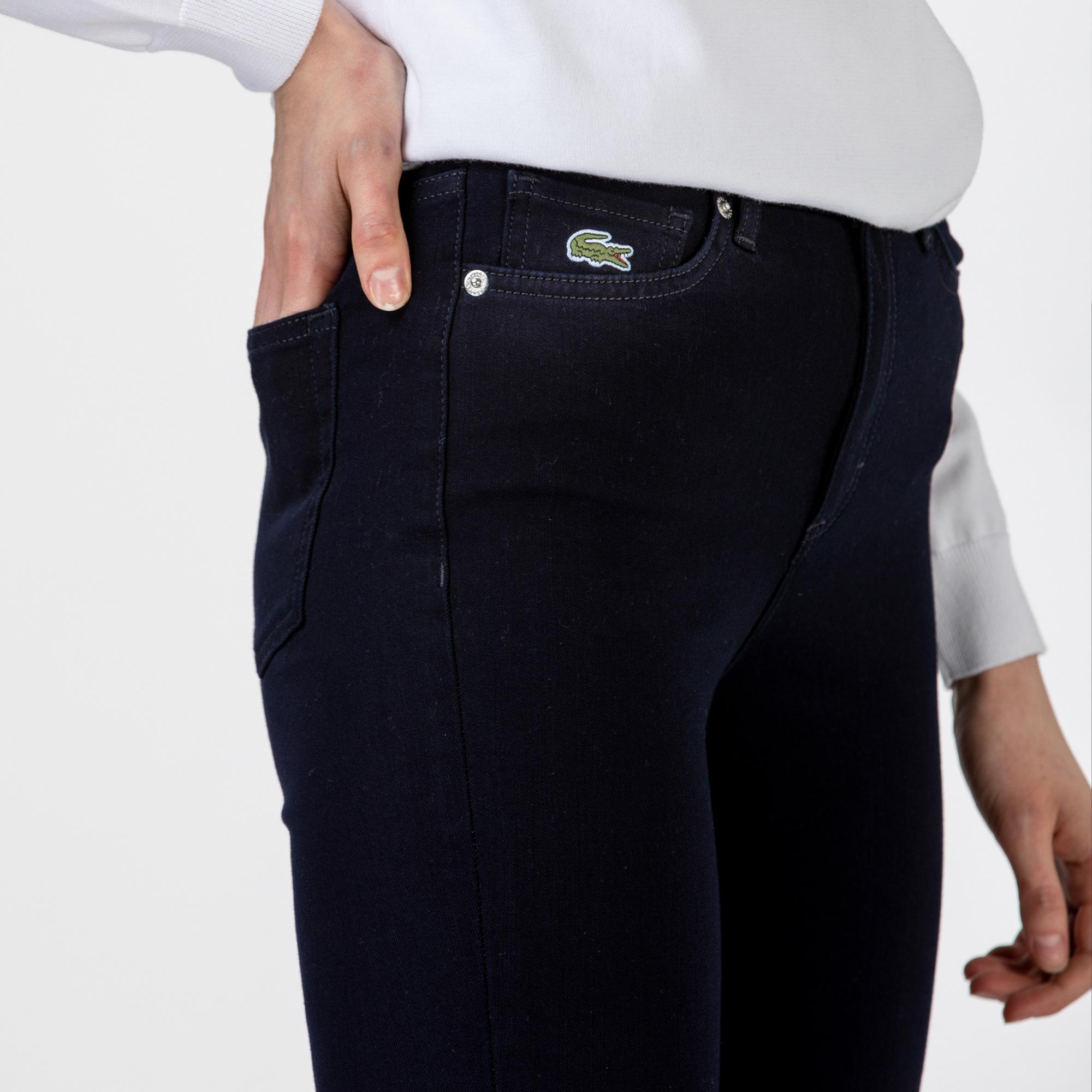 Lacoste Kadın Skinny Fit Lacivert Denim Pantolon