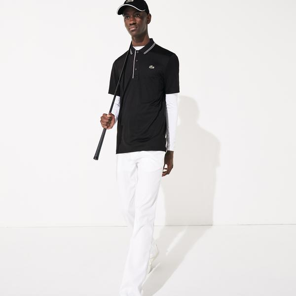 Lacoste Erkek Baskılı Siyah Polo