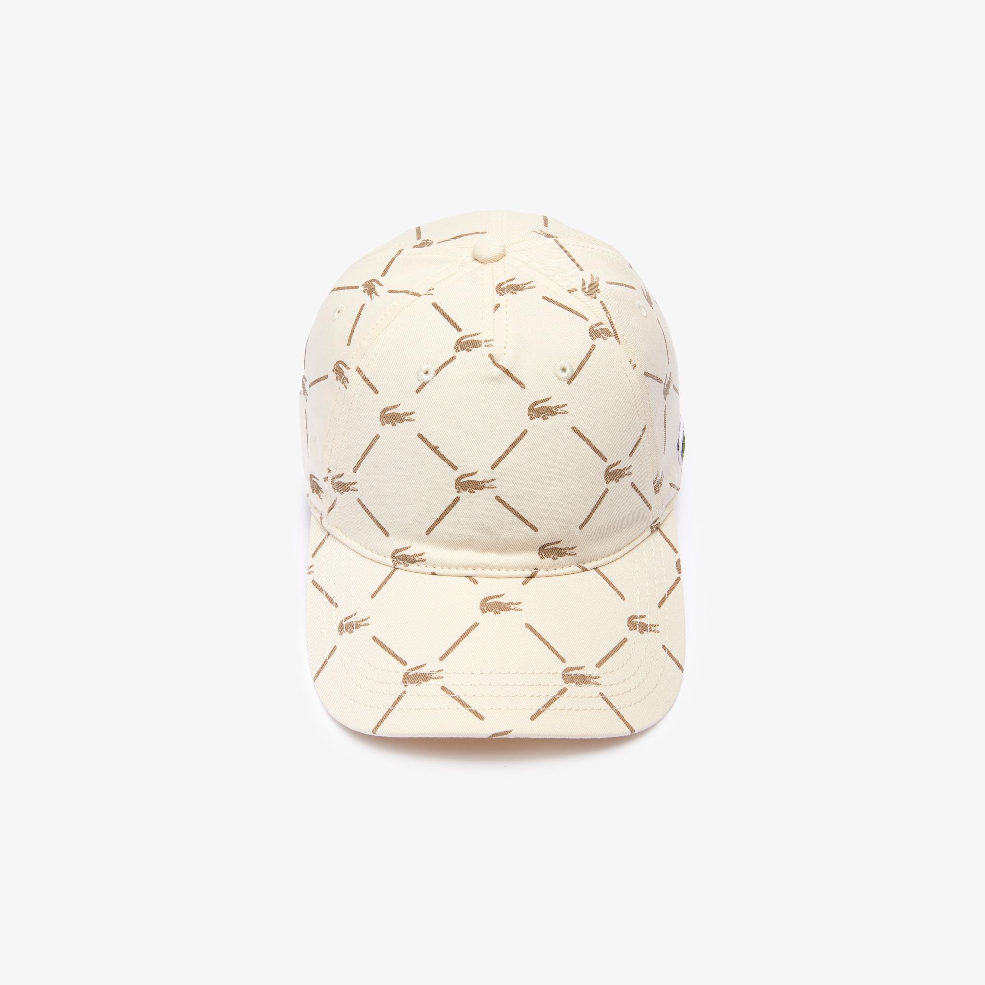 Lacoste Unisex Lacoste LIVE Monogram Print Cotton Cap