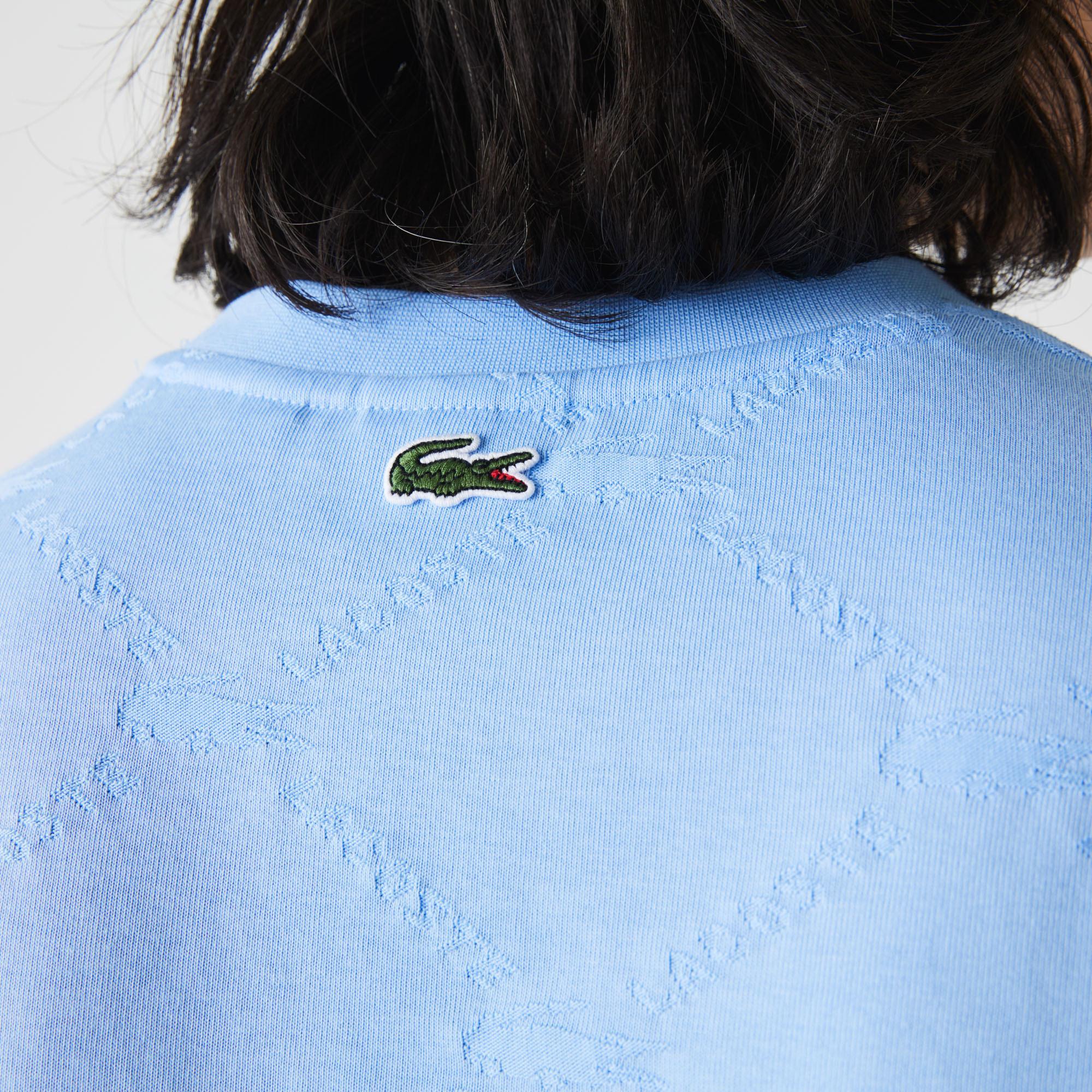 Lacoste Men?s Lacoste LIVE Monogram Patterned T-shirt