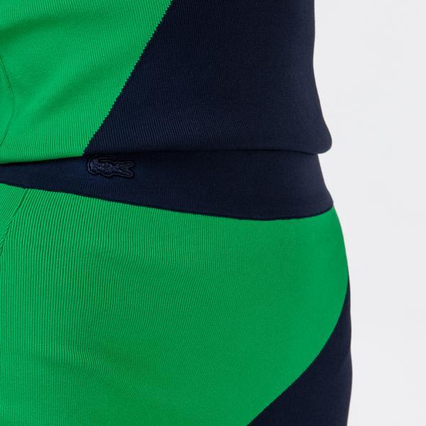Lacoste Kadın Renk Bloklu Lacivert - Yeşil Etek