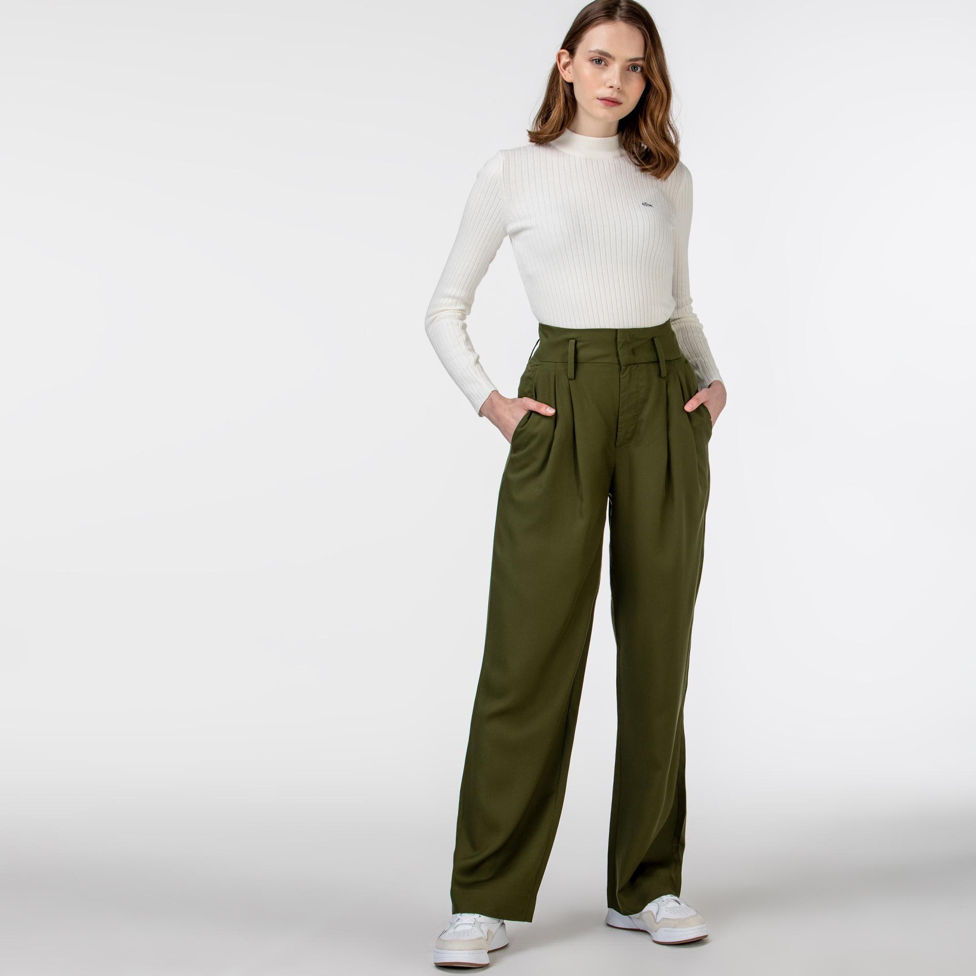 Lacoste Kadın Haki Pantolon