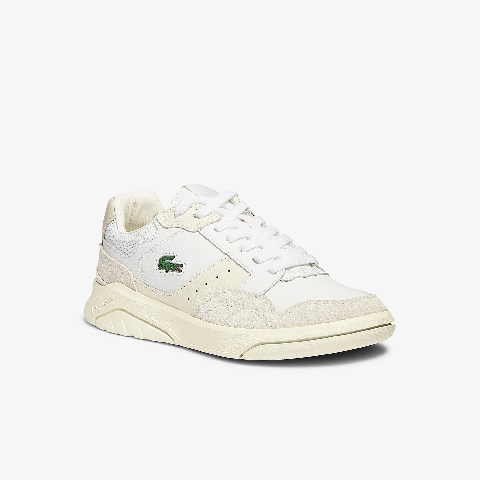 Lacoste Gameadvance Luxe 07211Sfa Kadın Bej - Beyaz Sneaker