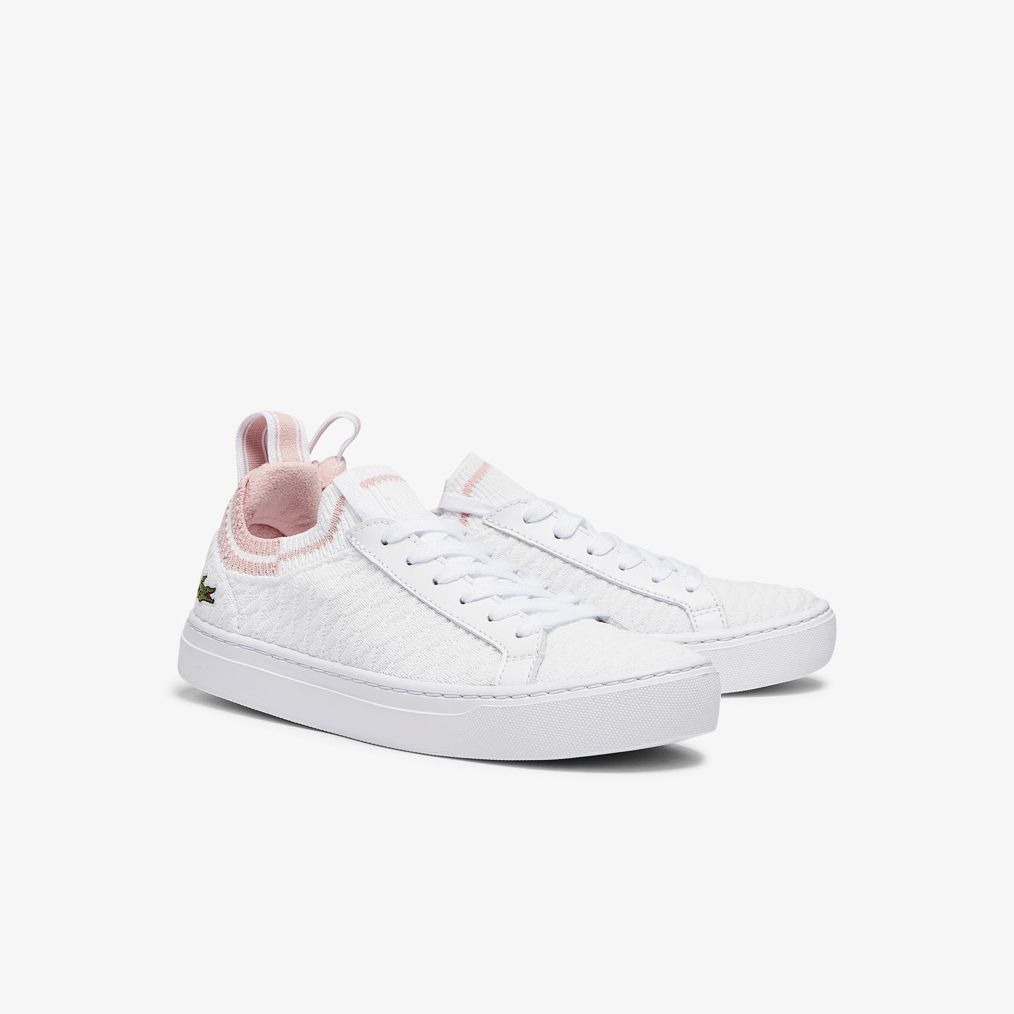 Lacoste La Piquee 0721 1 Cfa Kadın Beyaz - Açık Pembe Sneaker
