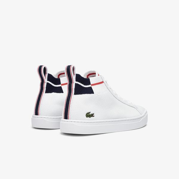 Lacoste La Piquee Mid 0721 1 Cfa Kadın Beyaz - Lacivert - Kırmızı Mid Ayakkabı