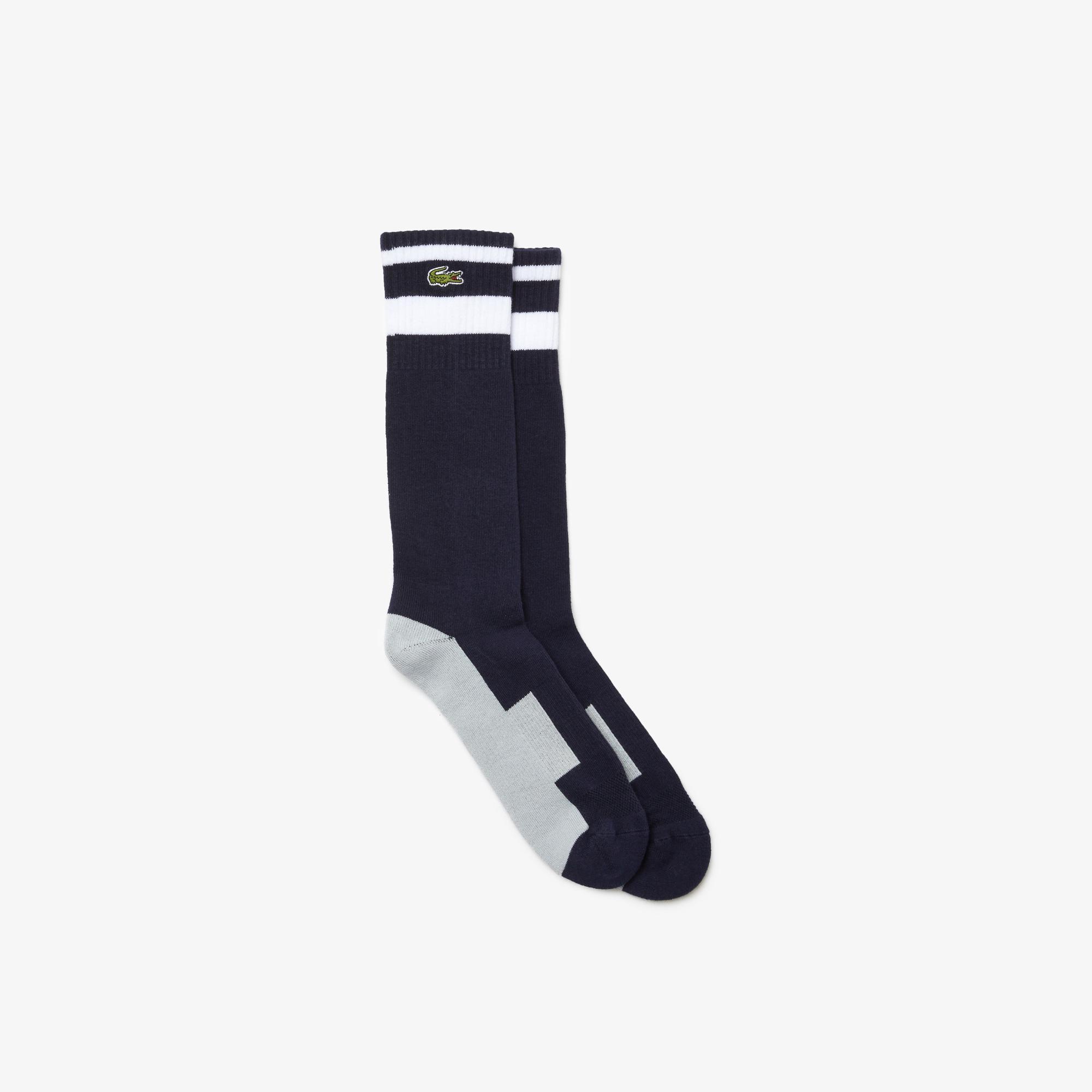 Lacoste Sport Unisex Uzun Lacivert Çorap