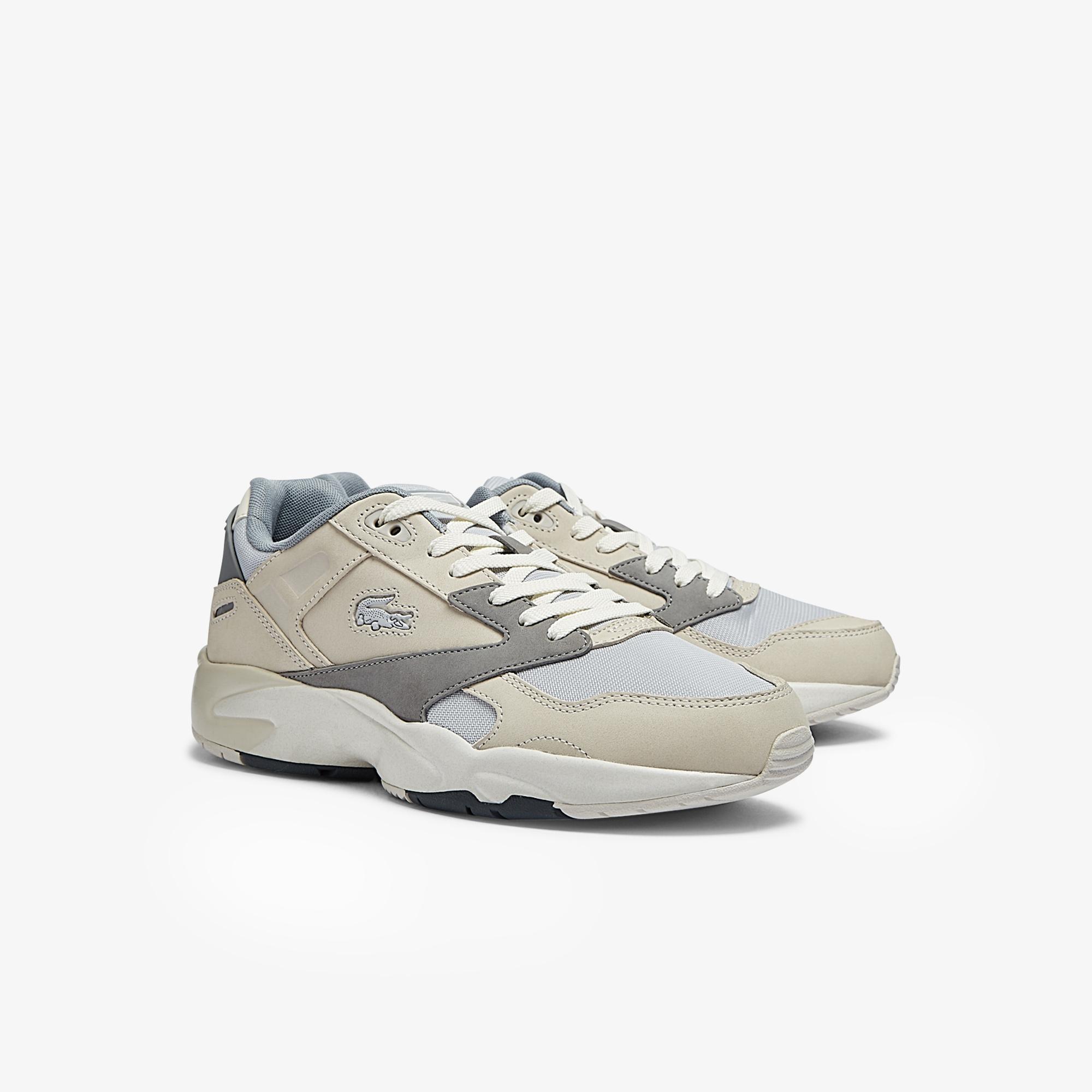 Lacoste Storm 96 Lo 0721 1 G Sma Erkek Bej - Gri Sneaker