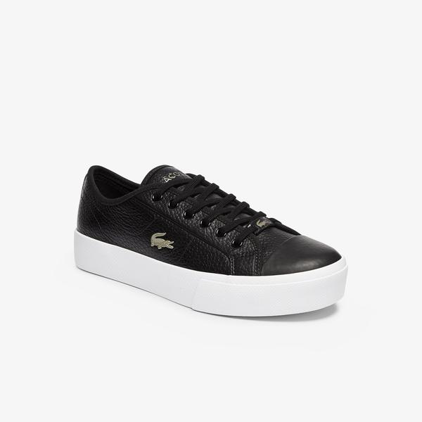 Lacoste Ziane Plus Grand 07211Cfa Kadın Siyah - Beyaz Ayakkabı