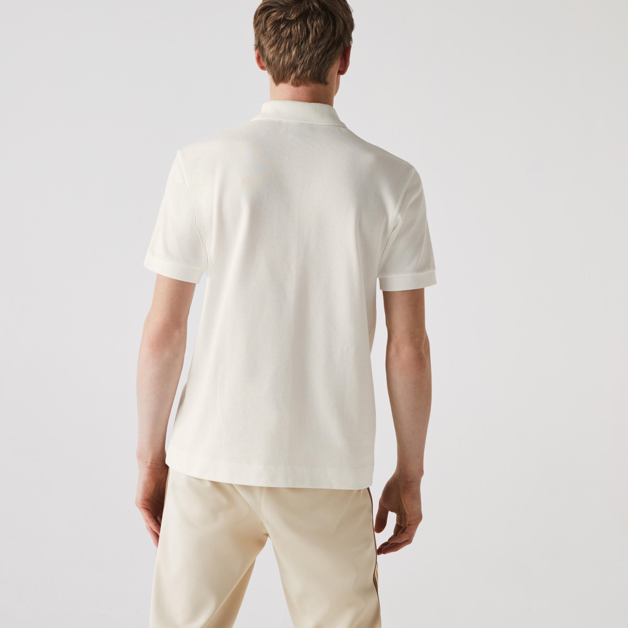 Lacoste Erkek Klasik Fit Organik Pamuk Beyaz L1221 Polo
