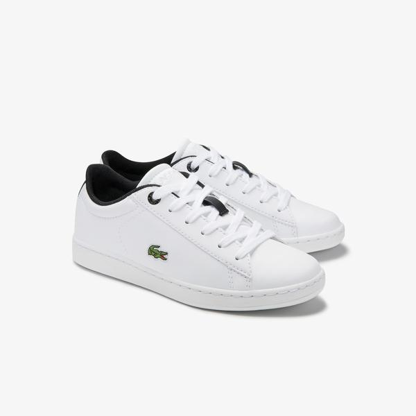 Lacoste Carnaby Evo 0120 2 Suc Çocuk Beyaz - Siyah Sneaker