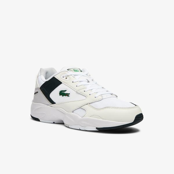 Lacoste Storm 96 Lo 0721 1 Sma Erkek Beyaz - Koyu Yeşil Sneaker
