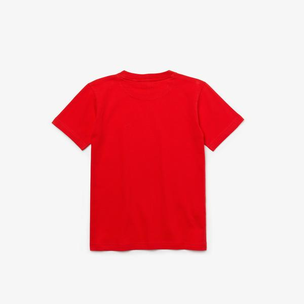 Lacoste Çocuk Bisiklet Yaka Kırmızı T-Shirt