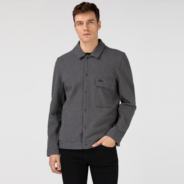 Lacoste Erkek Gömlek Yaka Gri Ceket