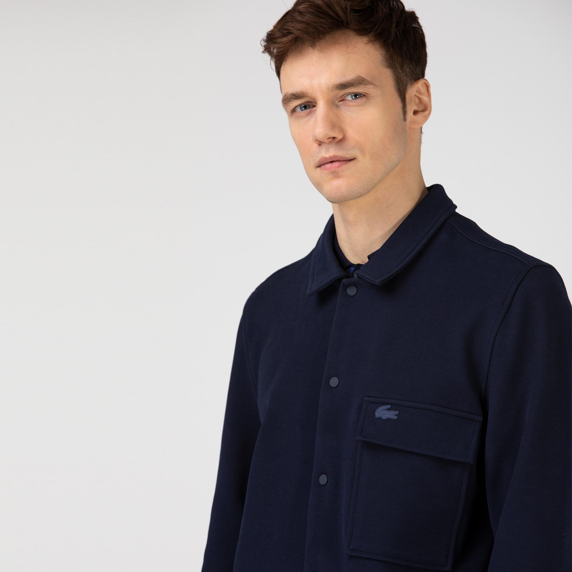 Lacoste Erkek Gömlek Yaka Lacivert Ceket