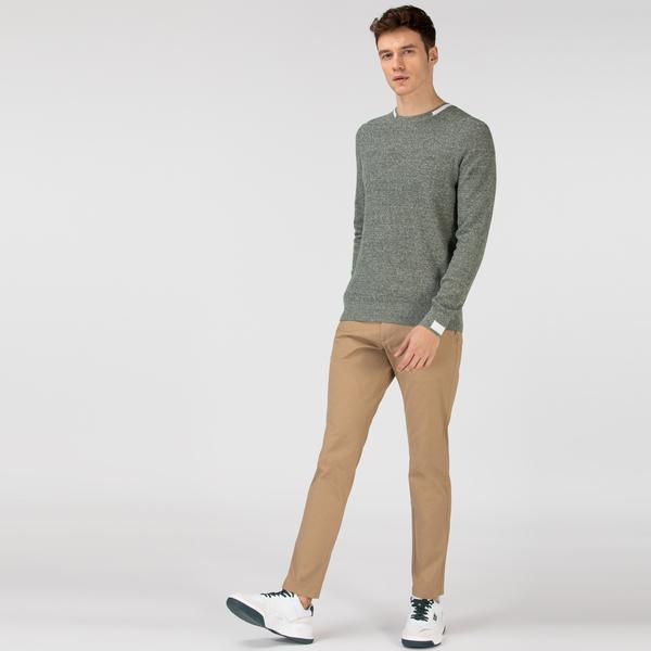 Lacoste Erkek Slim Fit Desenli Bej Pantolon