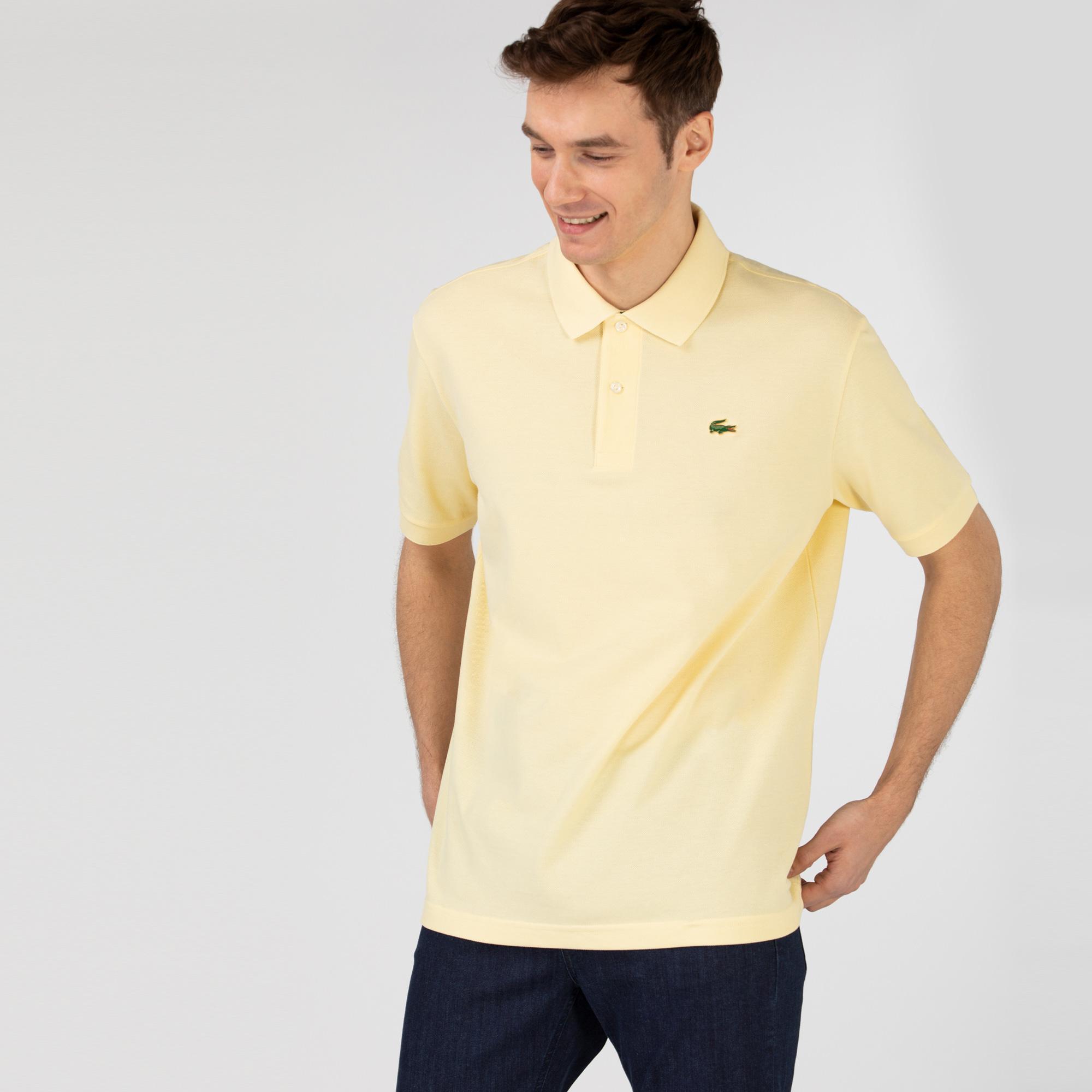 Lacoste L!ve Unisex Loose Fit Sarı Polo