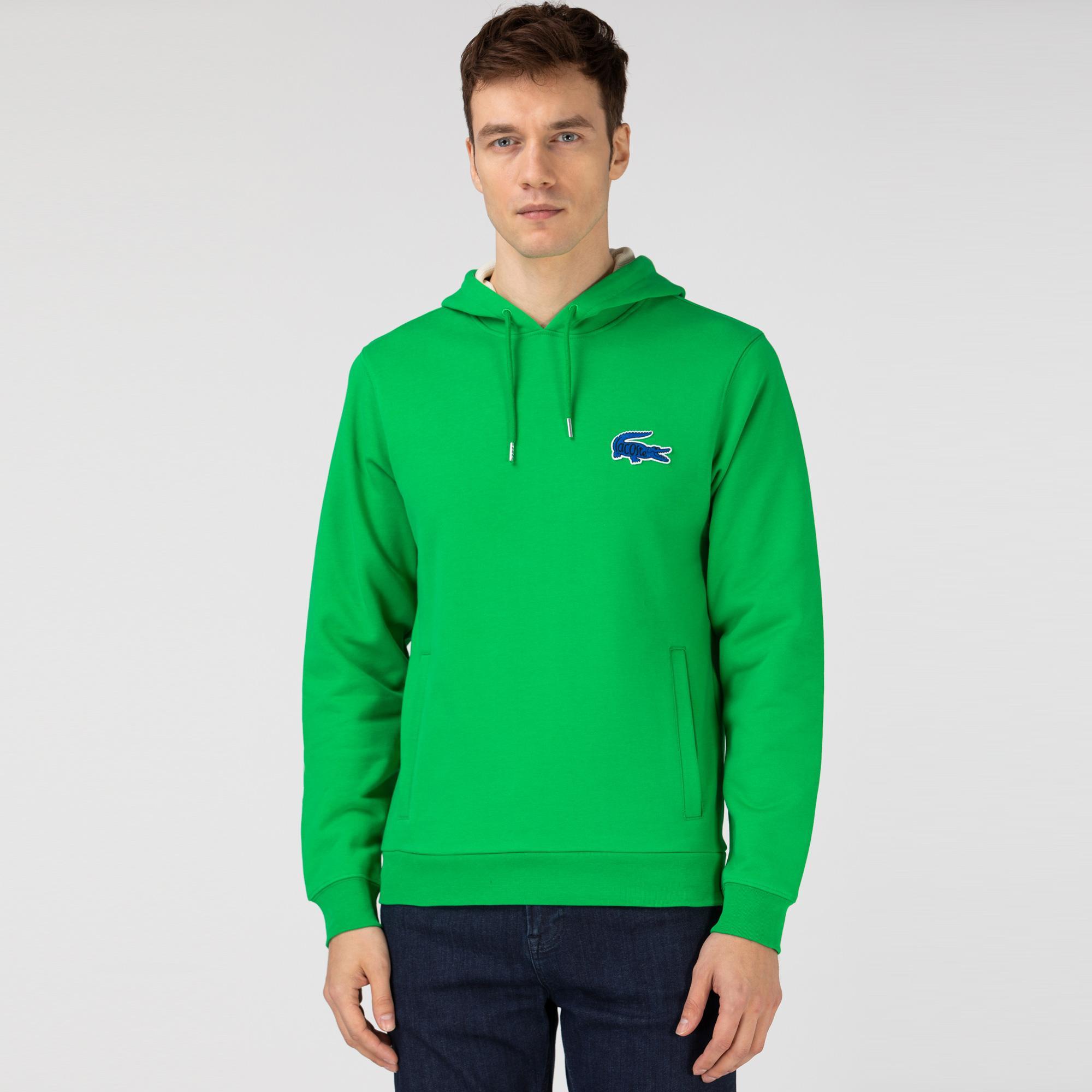 Lacoste Erkek Kapüşonlu Yeşil Sweatshirt