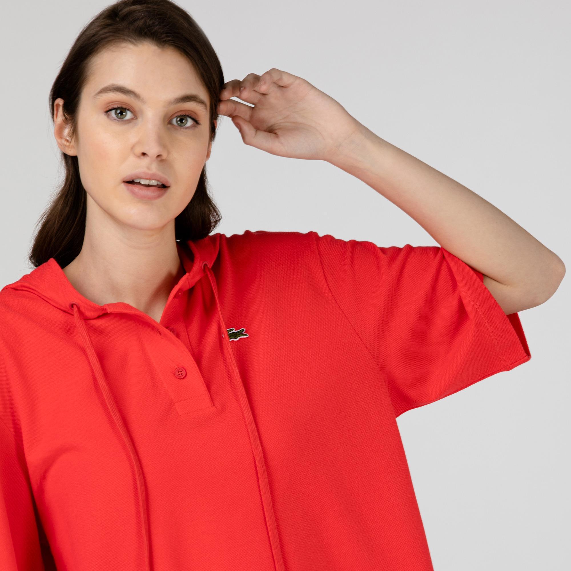Lacoste Kadın Kapüşonlu Kırmızı Polo