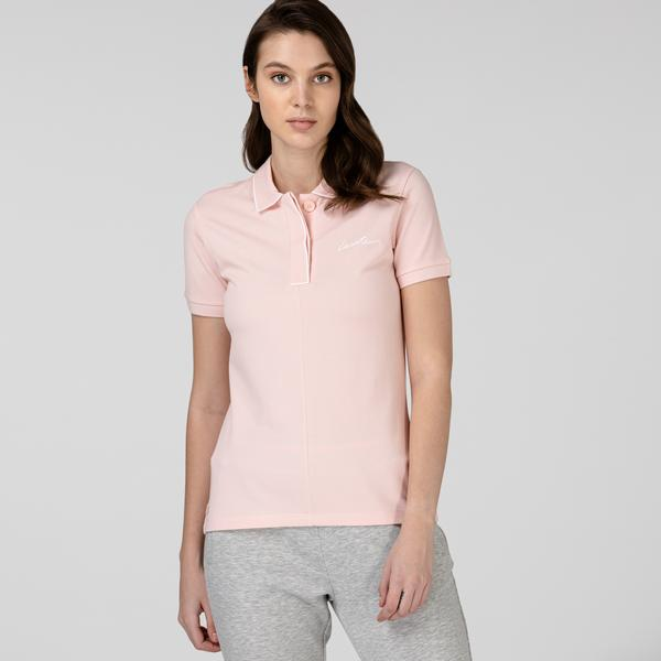 Lacoste Kadın Regular Fit Pembe Polo