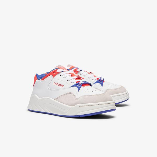 Lacoste Court Slam 0721 3 Sfa Kadın Beyaz - Mavi Sneaker