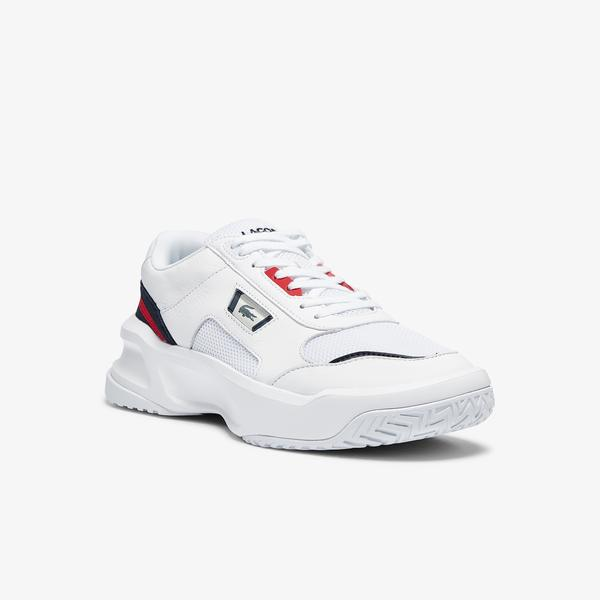Lacoste Ace Lift 0721 1 Sma Erkek Beyaz - Lacivert - Kırmızı Sneaker