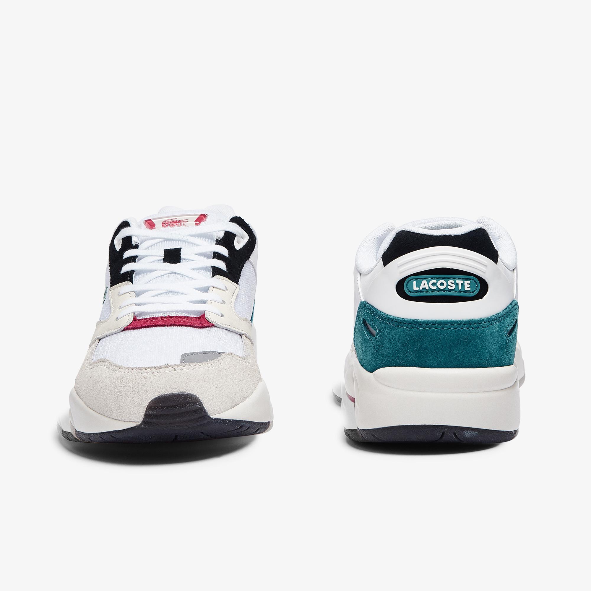 Lacoste Storm 96 Lo 0921 1 Sma Erkek Beyaz - Turkuaz Sneaker