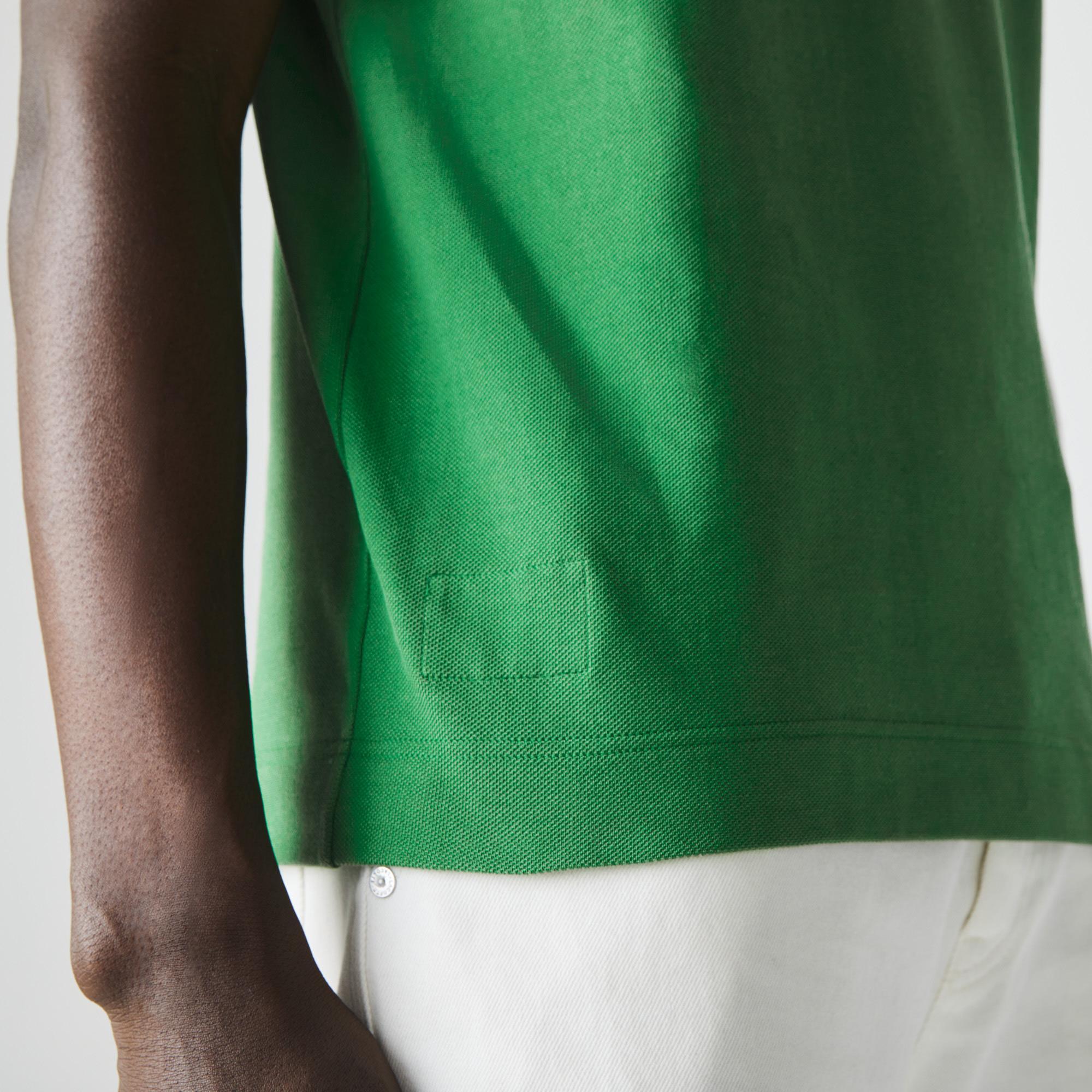 Lacoste Erkek Klasik Fit Organik Pamuk Yeşil L1221 Polo